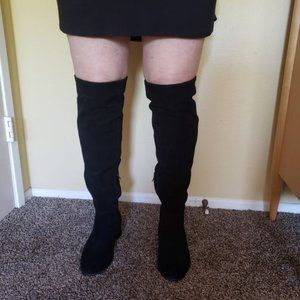 """Zappato Black, """"Vanessa"""" Suede Over the Knee Boots"""